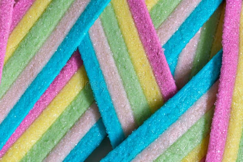 Rayures de sucrerie d'Unicorn Rainbow photo libre de droits