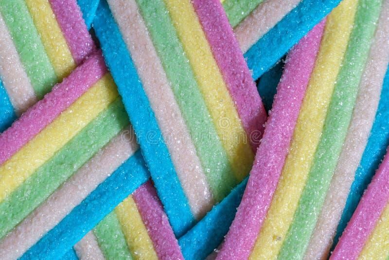 Rayures de sucrerie d'Unicorn Rainbow image libre de droits