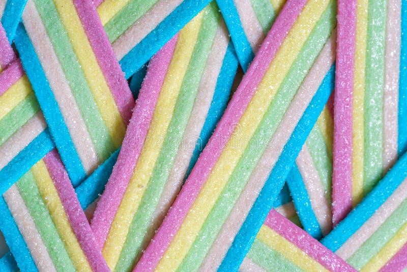 Rayures de sucrerie d'Unicorn Rainbow image stock