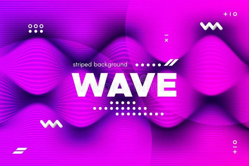 rayures de vague et ondulation tordues par 3d de la surface illustration libre de droits