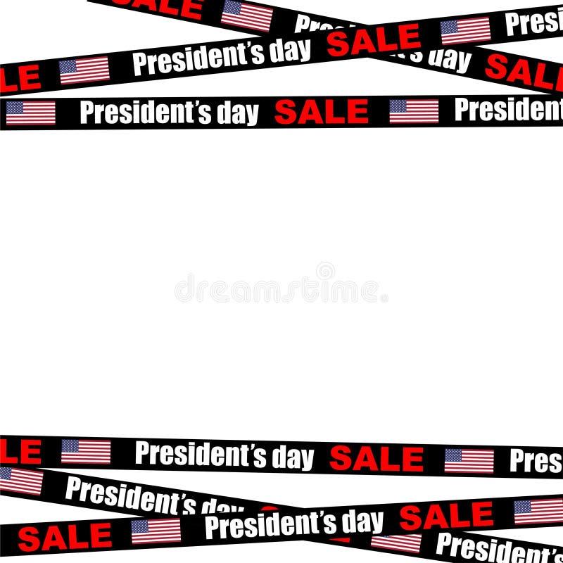 rayures de vente de jour de présidents sur le fond vide illustration de vecteur