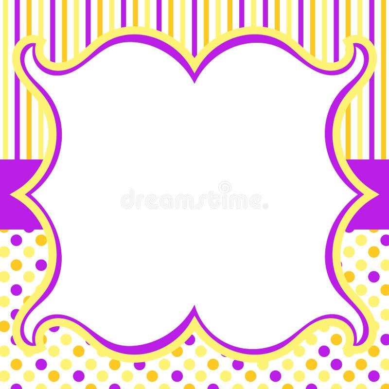 Rayures et carte d'invitation de points illustration de vecteur