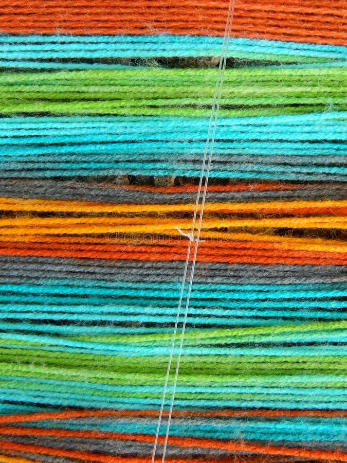 Rayures faites à partir du fil coloré image libre de droits