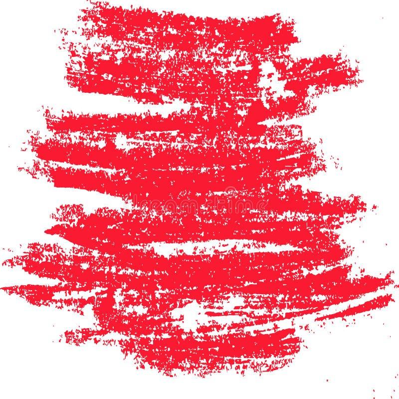 Rayures grunges monochromes rouges sur le fond transparent illustration stock