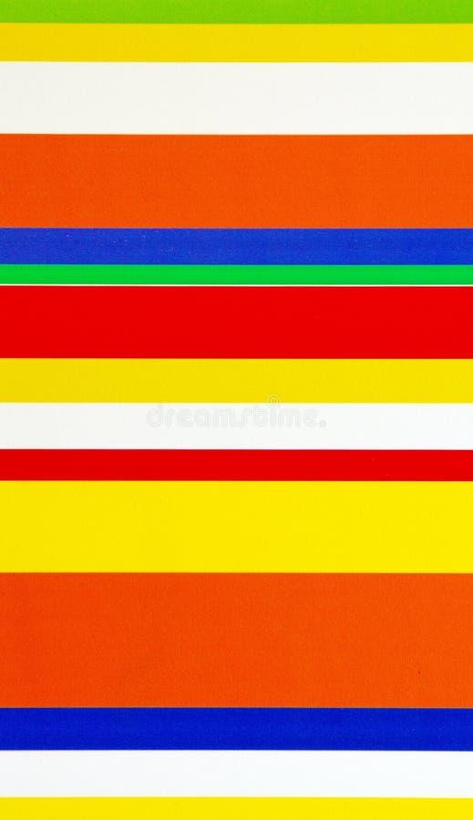 Rayures horizontales de couleurs images stock