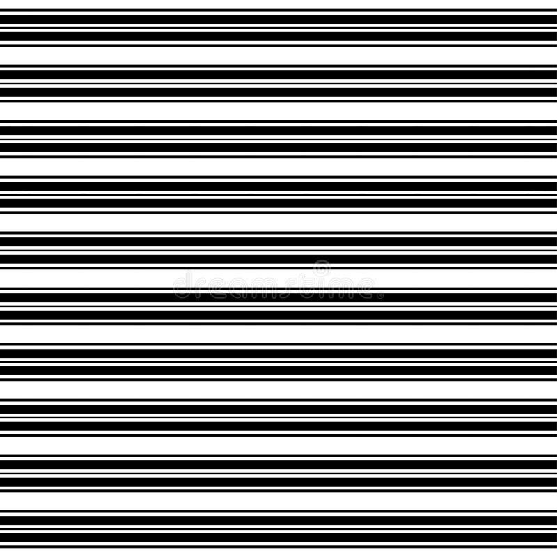 Rayures horizontales Modèle monochrome droit de parallèle Illustration sans joint de vecteur illustration stock