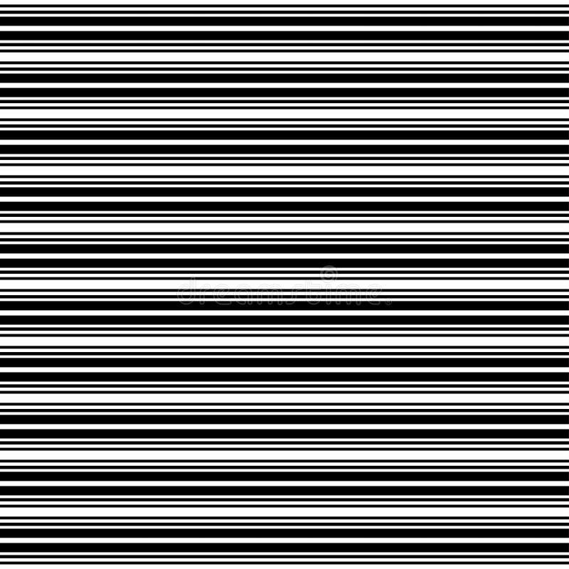 Rayures horizontales Modèle monochrome droit de parallèle Illustration sans joint de vecteur illustration de vecteur