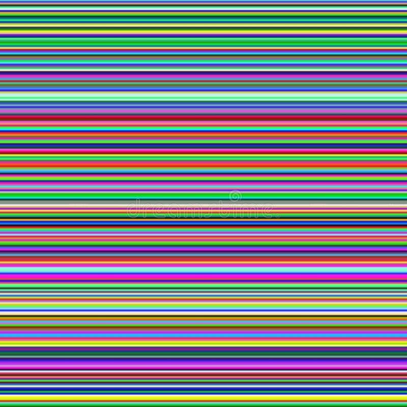 Rayures horizontales multicolores, fond abstrait de gradient illustration libre de droits