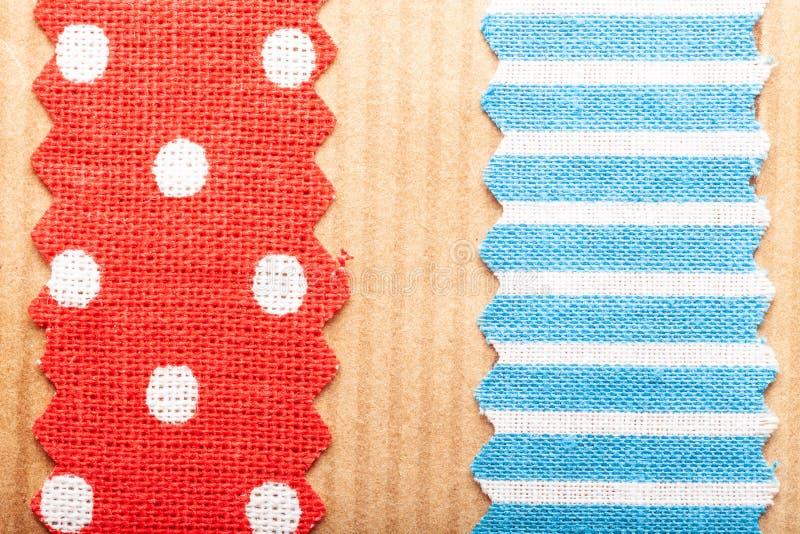 Rayures multicolores de withl de texture de papier de métier de tissu de coton pour le fond photographie stock