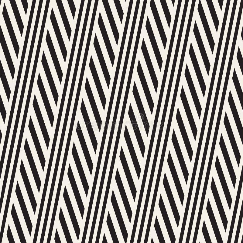 Rayures parallèles de entrelacement Modèle monochrome sans couture de vecteur illustration de vecteur