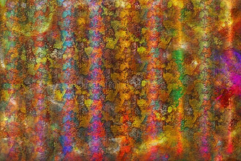 Rayures rugueuses multicolores, texture grunge de fond illustration libre de droits