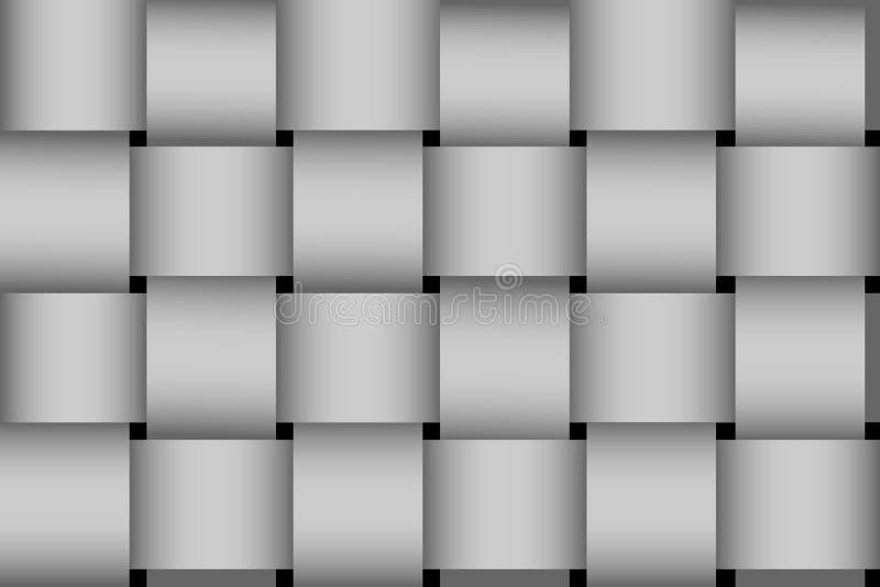Rayures tressées à fond gris sans couture illustration de vecteur