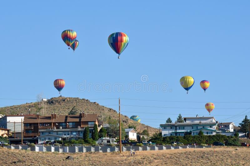 Raza 2010 del globo del aire caliente de Reno fotografía de archivo