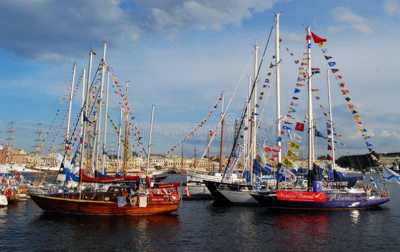Raza alta 2009 Báltico de la nave foto de archivo