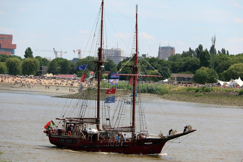 Raza alta de la nave 2016, Amberes Bélgica fotos de archivo libres de regalías