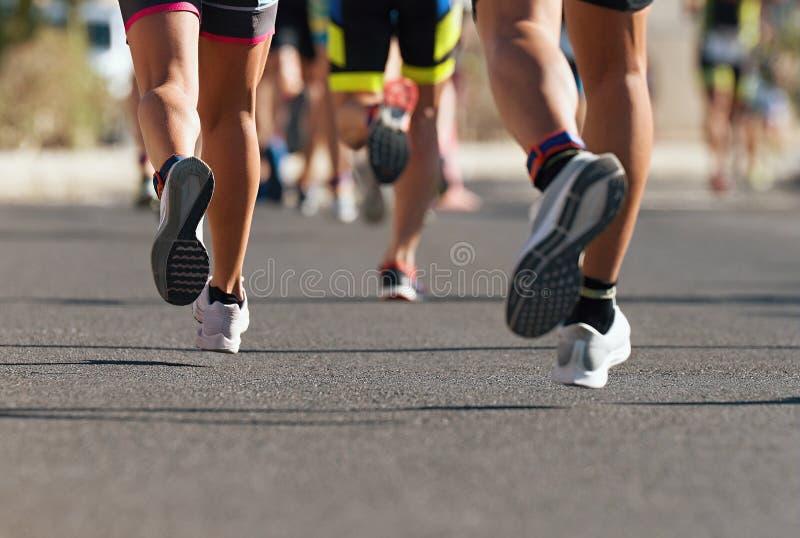Raza corriente del marat?n fotografía de archivo libre de regalías