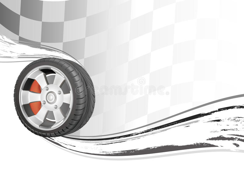 raza de automóvil libre illustration