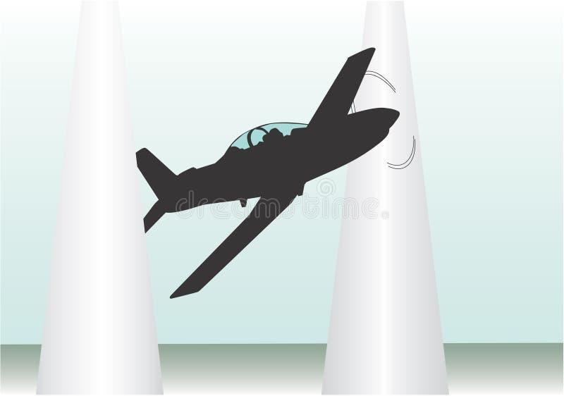 Raza de aviones stock de ilustración