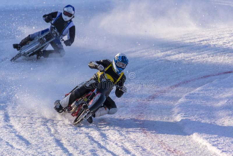 Raza de calificación para el campeonato sueco en carretera del hielo fotografía de archivo libre de regalías