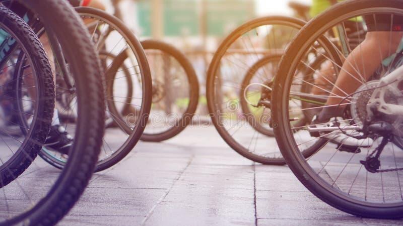 Raza de ciclo, extracto biking fotografía de archivo