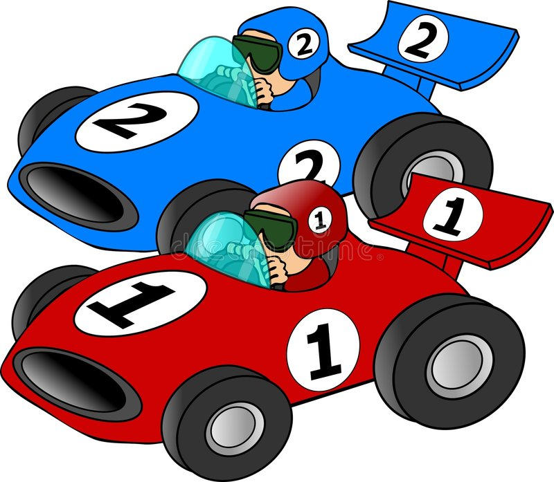 Raza de coche ilustración del vector