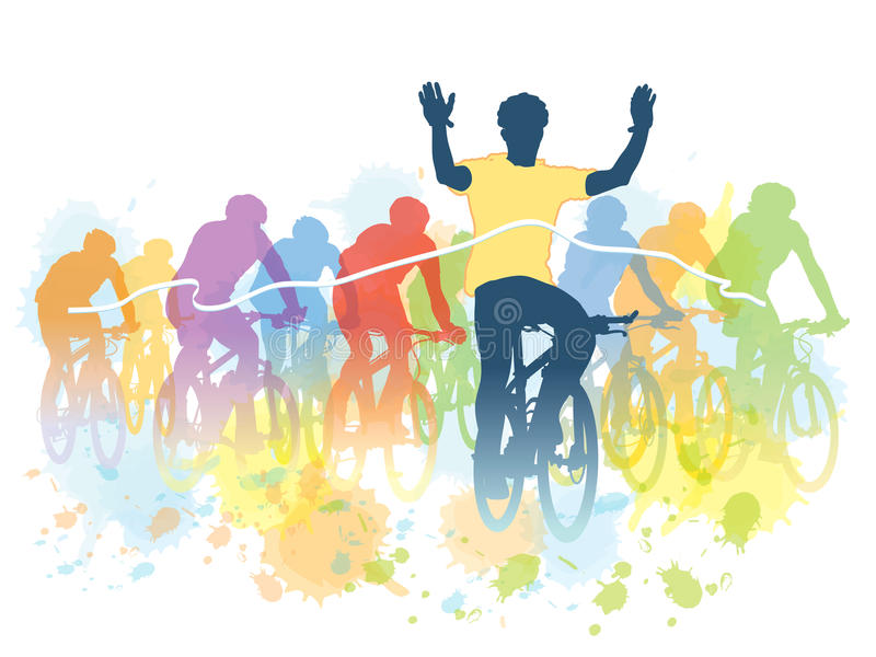 Raza de la bici stock de ilustración