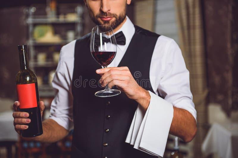 Raza de vino en un vidrio foto de archivo