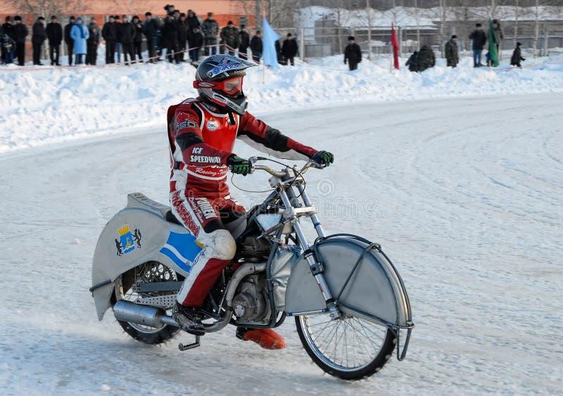 Raza del carretera del hielo Tyumen Rusia fotografía de archivo libre de regalías