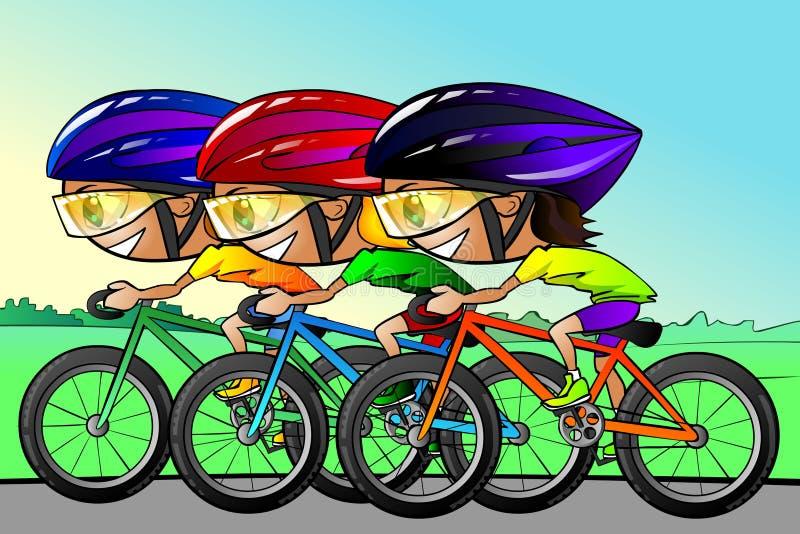 Raza del ciclo stock de ilustración