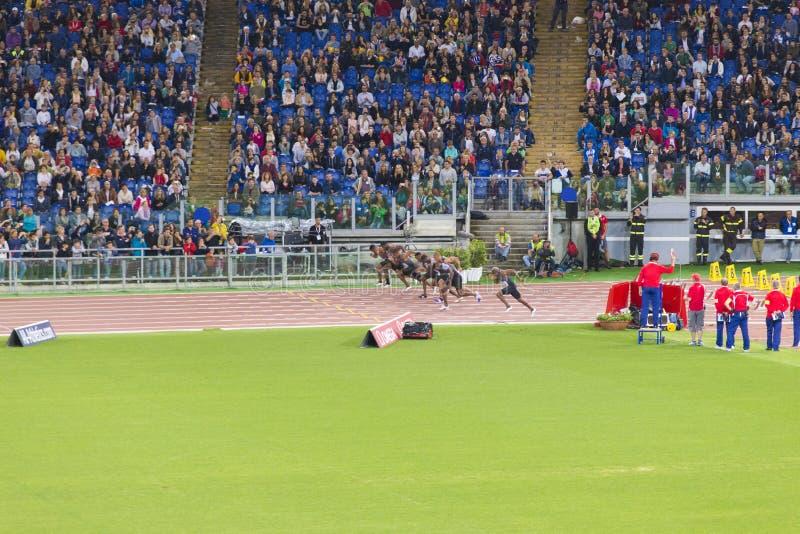 raza del 100m fotos de archivo