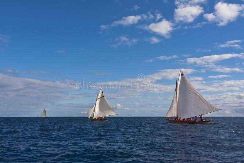 Raza del regatta del barco de la pesca de ballenas fotografía de archivo