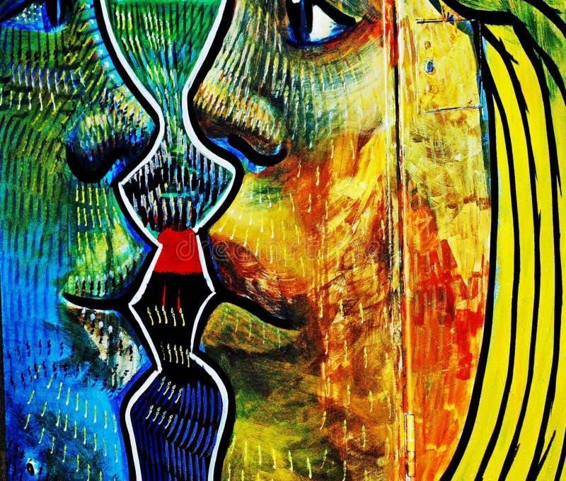 Raza pública abstracta de la igualdad del concepto de la pintada, religión, sexo fotografía de archivo
