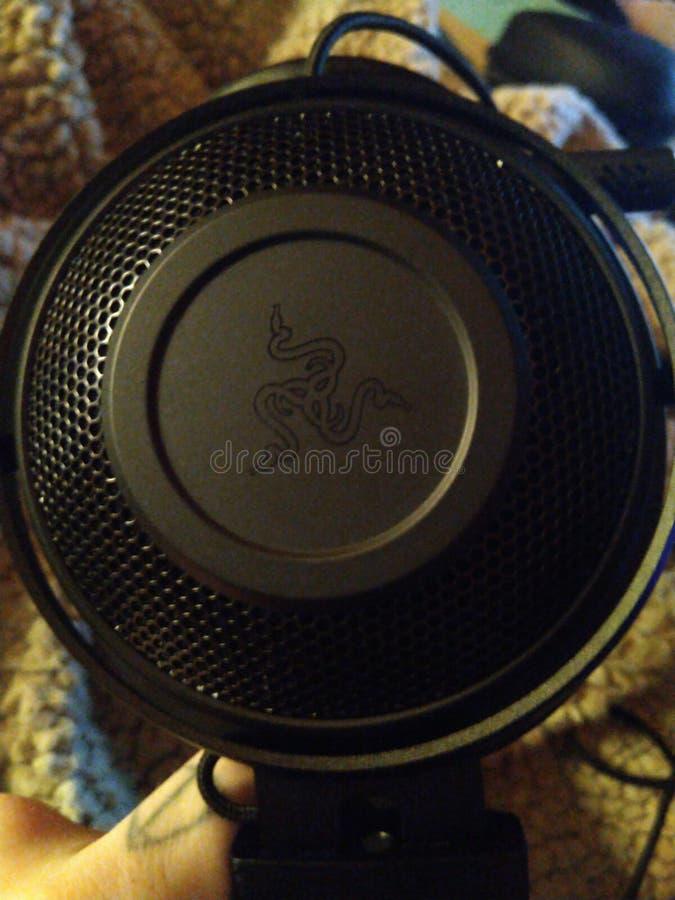 Razer Kraken - Gaming Headset 008. Gaming headset  razer kraken  gamer black  nerd tech accessory peripheral   surround sound audio  synapse royalty free stock images