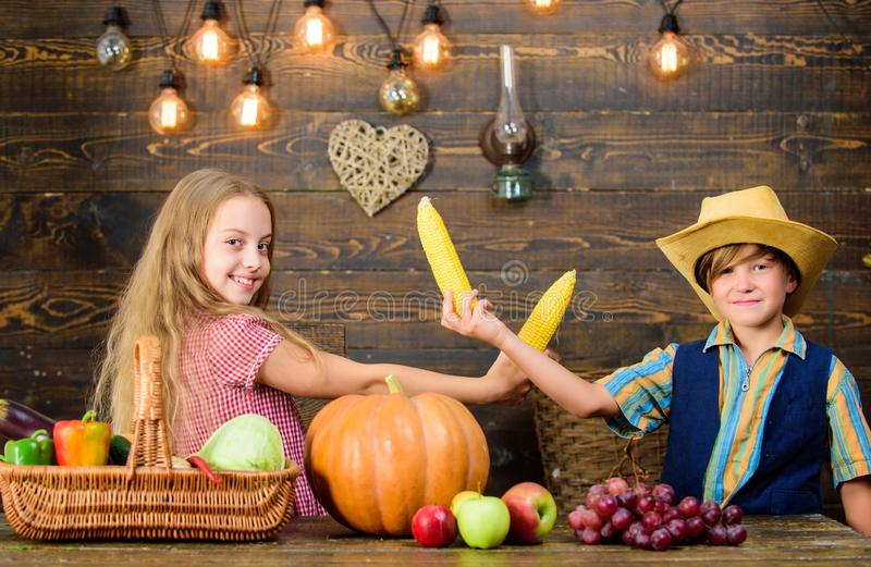 Razones por las que cada niño debe experimentar el cultivo Considerado responsable de tareas diarias de la granja Muchacho de la  foto de archivo