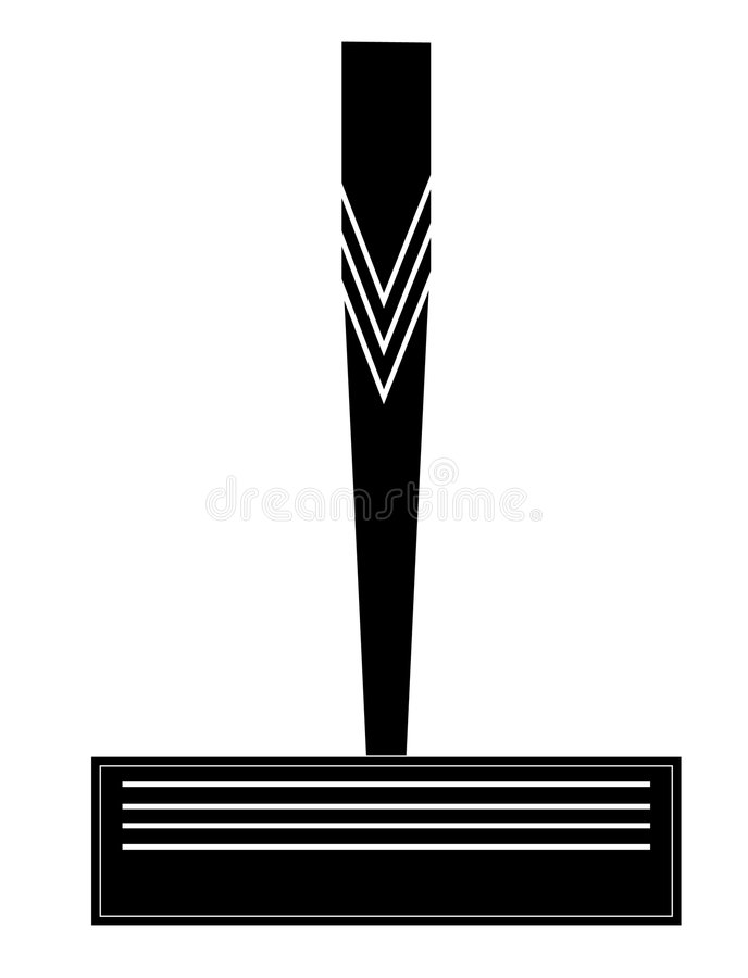 Download Razor stock vector. Image of hairless, morning, sharp - 4867326