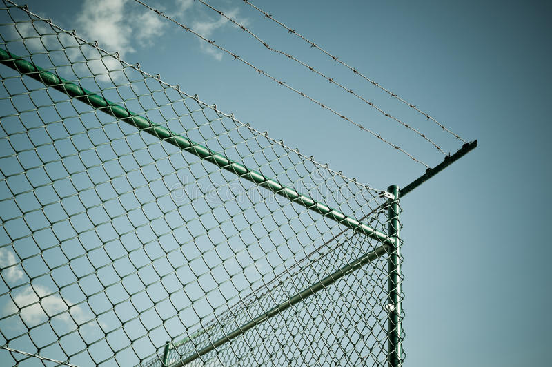 Razor And Barbed Wire Fence Stock Photo Image 30804350