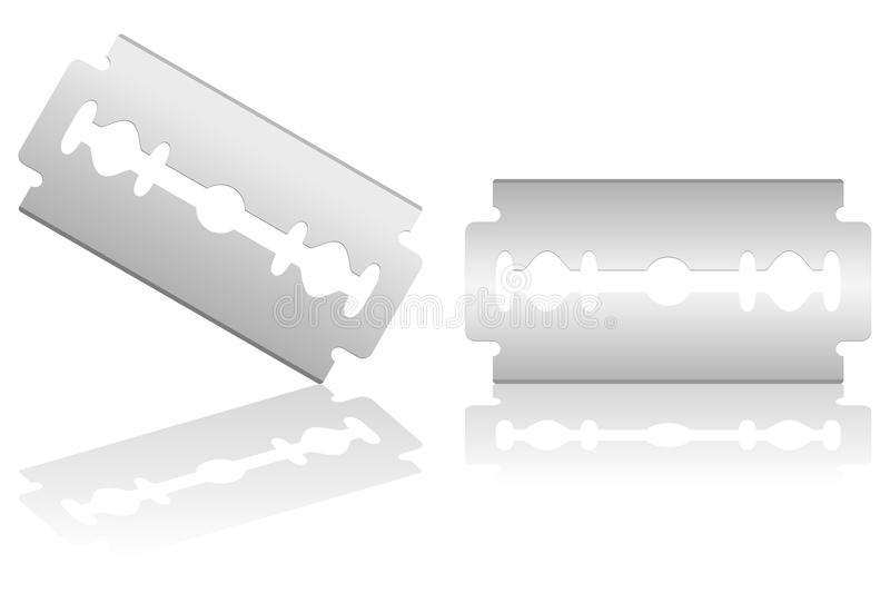 Razor Blade. On white background. Eps file available royalty free illustration