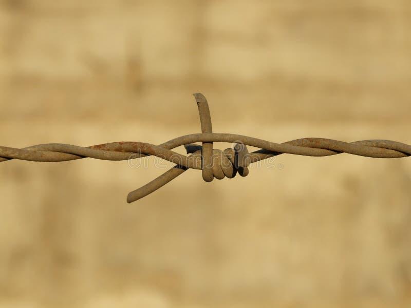 Razor wire. Close-up of rusty razor wire stock images