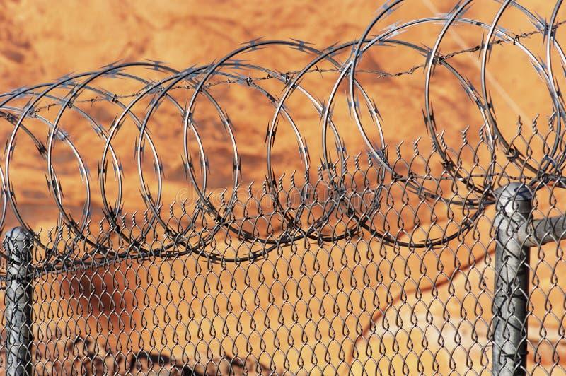 Download Razor wire fence. stock photo. Image of protect, link, arizona - 337744