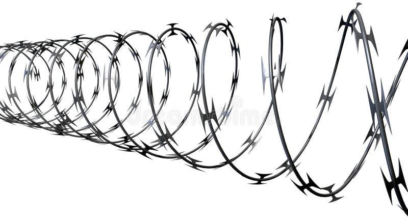 Razor Wire Perspective stock illustration. Illustration of metallic ...