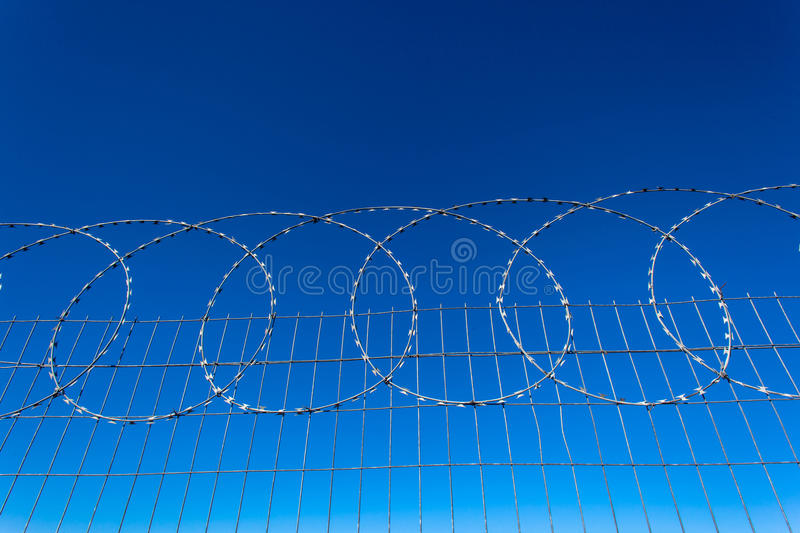 Download Razor Wire Steel Fencing stock image. Image of property - 26870983