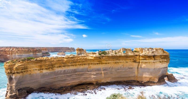 The Razorback rock in Port Campbell National Park, Victoria, Australia.  royalty free stock photo