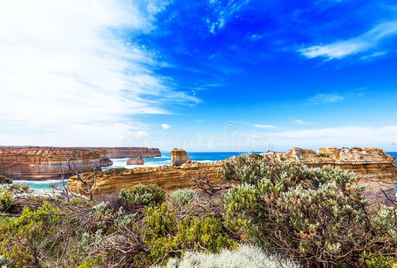 The Razorback rock in Port Campbell National Park, Victoria, Australia.  stock photo