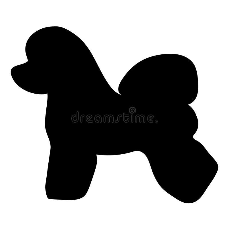 Razza Bichon Frise del cane Siluetta illustrazione di stock