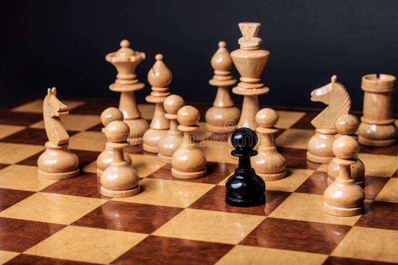 Razzismo di scacchi fotografia stock