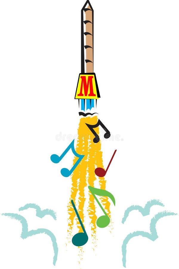 Razzo musicale royalty illustrazione gratis