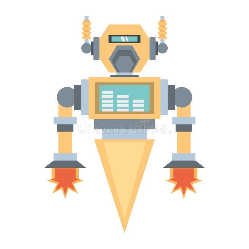razzo robot di ingegnere meccanico illustrazione di stock