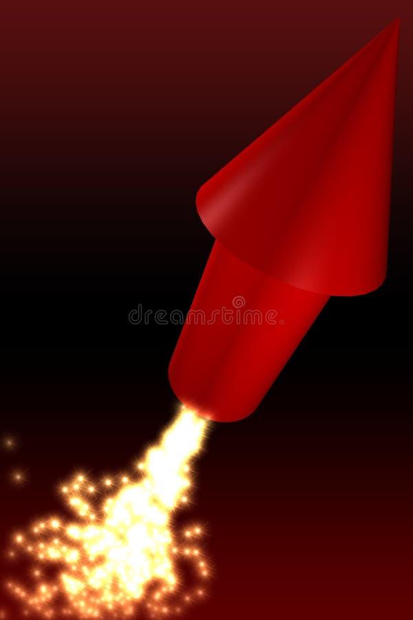 Razzo rosso illustrazione di stock