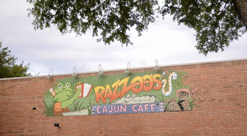 Razzoos Cajun restaurang, Fort Worth, Texas arkivbild
