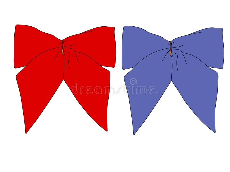 Download RB Bows stock illustration. Image of decorative, gift, material - 523871